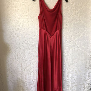 Victoria's Secret Red 100% Silk Gown Slip NWT Med